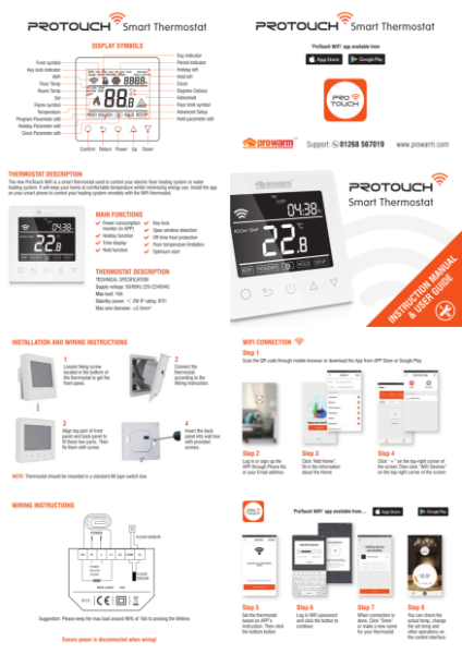 ProTouch-E WiFi Thermostat