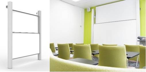 Premium Sundeala Vitreous Enamelled Steel Whiteboard Column Board - Aluminium Columns with Magnetic Writing Surface