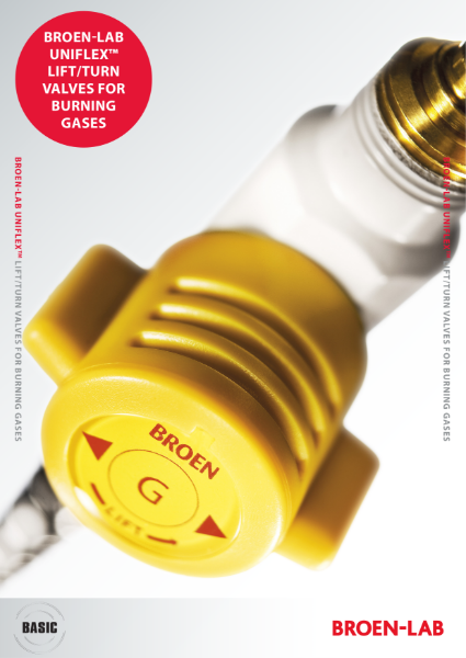 BROEN-LAB UNIFLEX LIFT/TURN VALVES FOR BURNING GASES