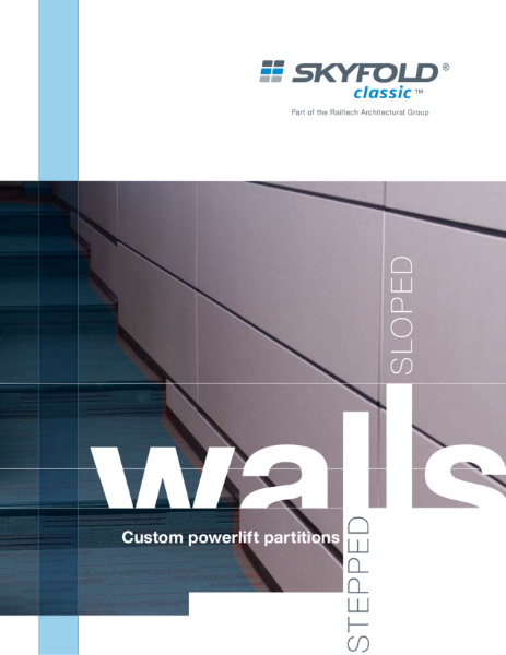 Skyfold - the moveable wall system for stepped floors