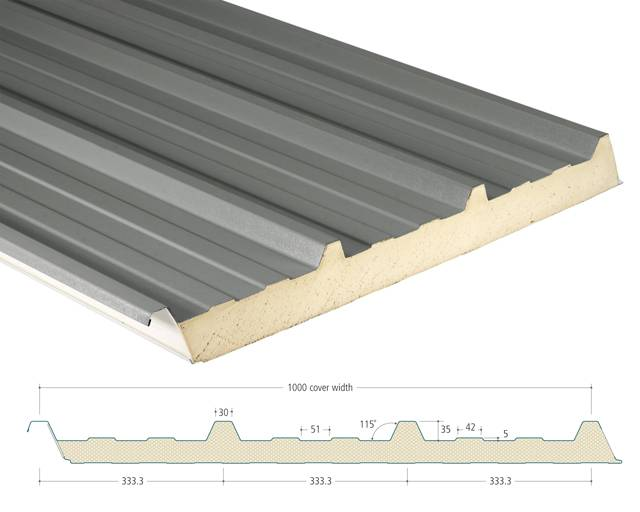 AS35/1000 Insulated Panels - Roofs