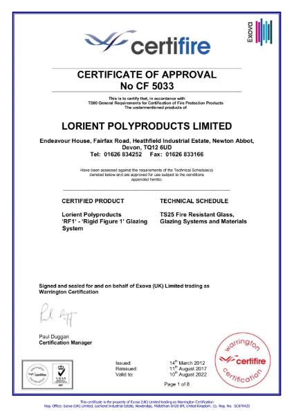 CF5033 Certifire Certificate
