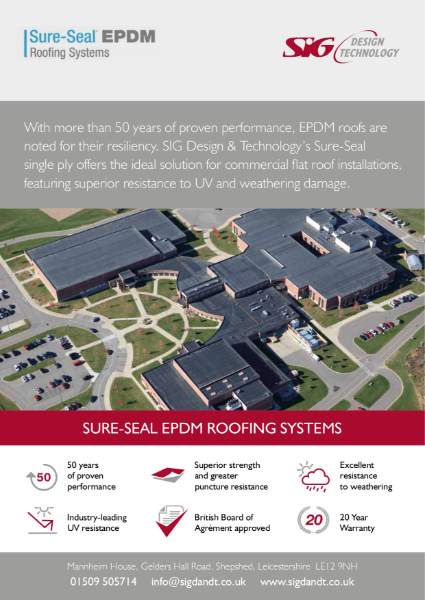 Sure-Seal EPDM Roofing Systems Brochure