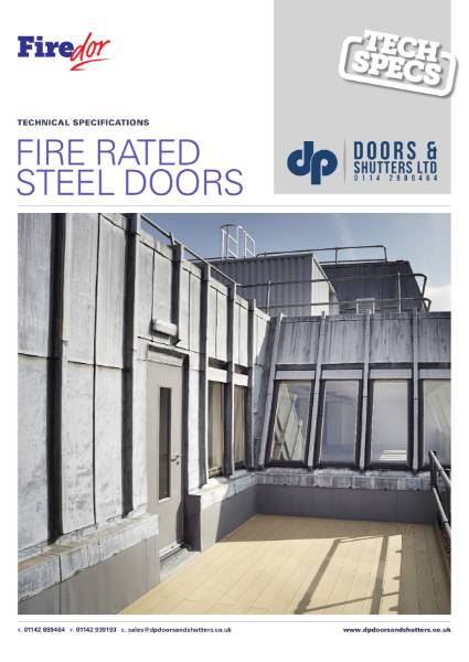 Steel HInged Personnel Fire Door , single or double leaf