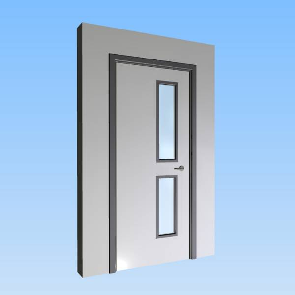 CS Acrovyn® Impact Resistant Doorset - Single with type VP4 Vision Panel