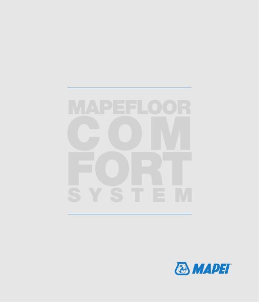 MAPEFLOOR COMFORT SYSTEM