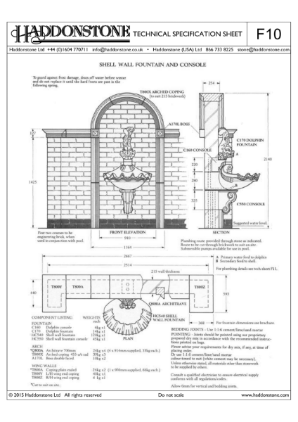 Fountains - Technical Details