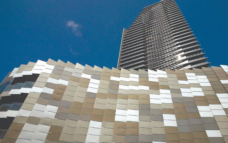 Smartfix solid aluminium façade