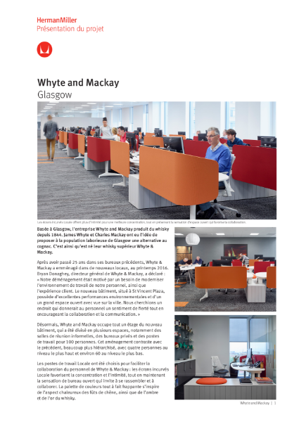 Case Study - Whyte and Mackay - Herman Miller