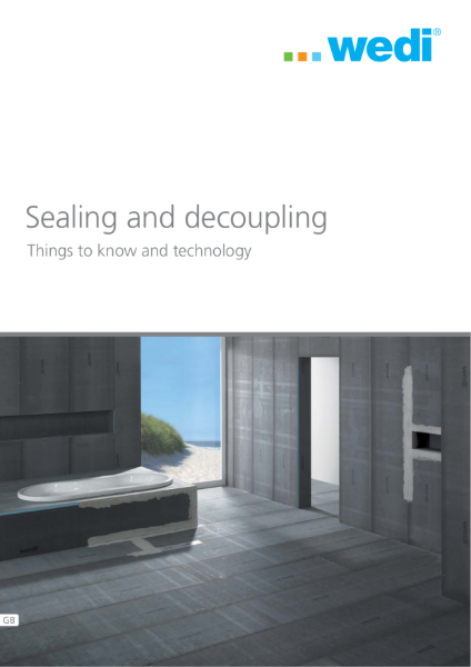 wedi sealing and decoupling brochure