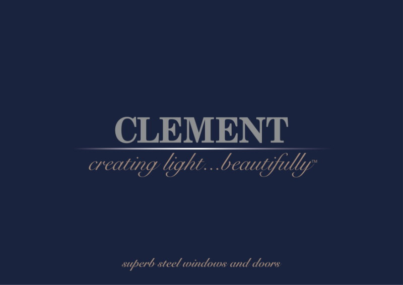 Clement steel window brochure