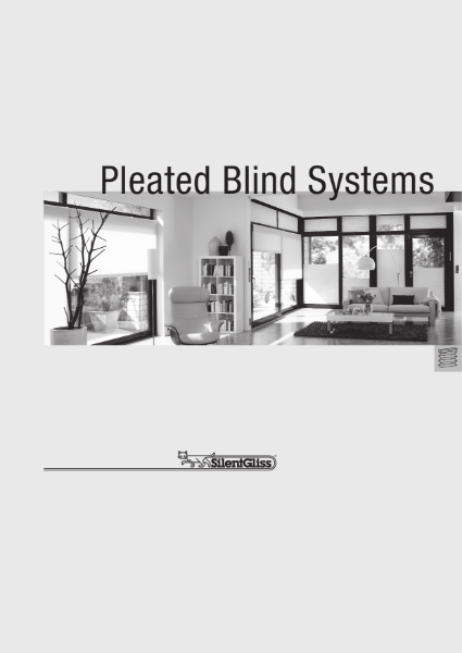 Pleated Blind Systems by Silent Gliss
