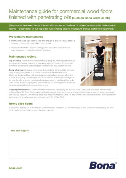 Maintenance Guide for Oiled Wood Floors