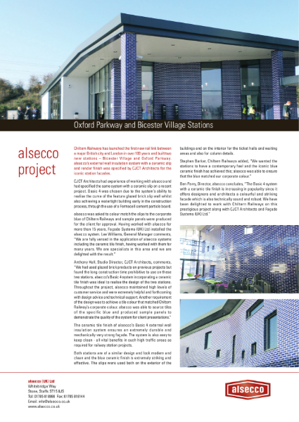 Oxford Parkway & Bicester Village Stations Project Report
