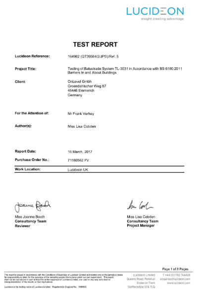 UK Test Report - TL3031