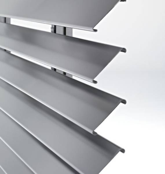 Aluminium brise-soleil carrier members