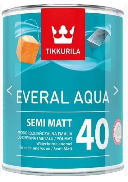 Everal Aqua Semi Matt [40] - Waterbased trade acrylic enamel semi-matt paint