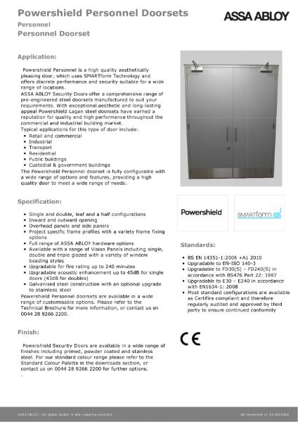 Personnel - Powershield Personnel Doorsets