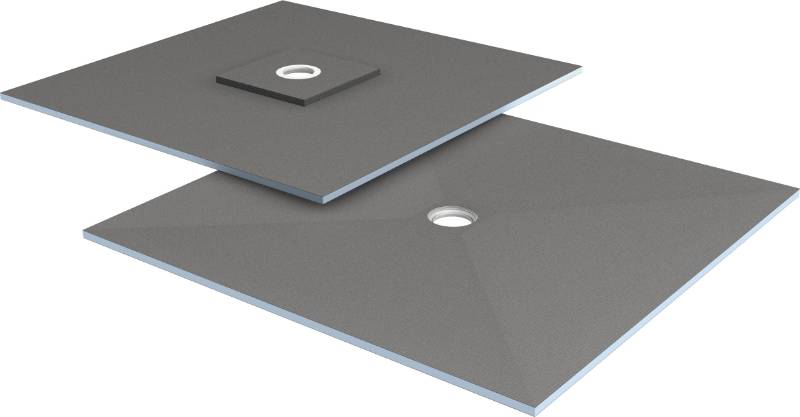 wedi Fundo Ligno floor element, centre drain