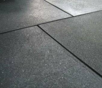 Smooth rubber tiles