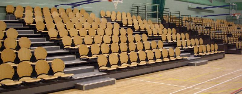 Lagoon Leisure Centre Retractable Spectator Seating
