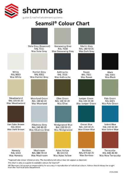 Seamsil Colour Chart