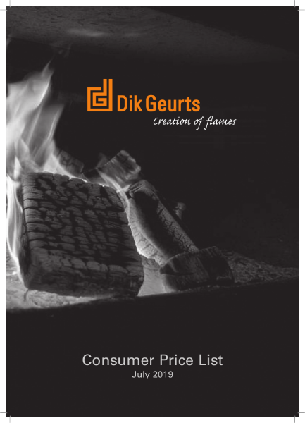 Dik Geurts wood fires and stoves price list 2019