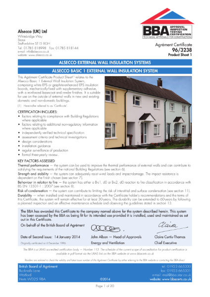 AG963238_1 ALSECCO BASIC 1 EXTERNAL WALL INSULATION SYSTEM