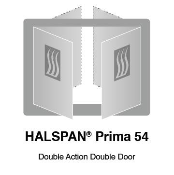 HALSPAN® Prima 54 mm Internal Fire Rated Door Blank - Double Acting Double Doors