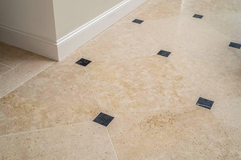 La Roche Limestone Flooring Project