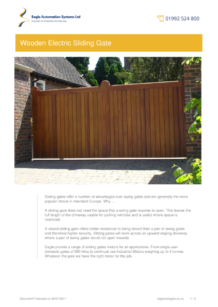Residential Wooden Electric Sliding Gates
