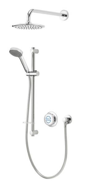 Quartz Classic Smart divert concealed adjustable with wall fixed head - GP