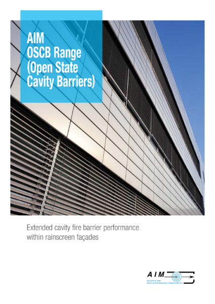 NEW AIM OSCB Range - Open State Cavity Barriers