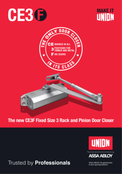 The new CE3F Fixed Size 3 Rack and Pinion Door Closer