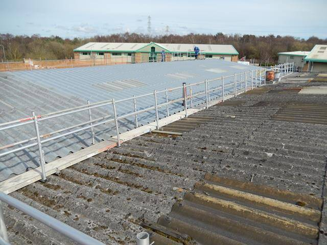 Asbestos Roof Coating with maximum attention to health & safety
