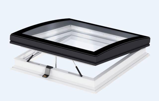 CVP INTEGRA® Elect. flat roof window, curved glass