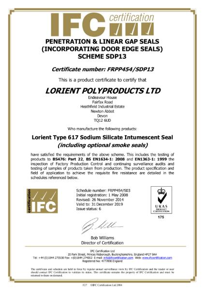 Lorient IFC certificate