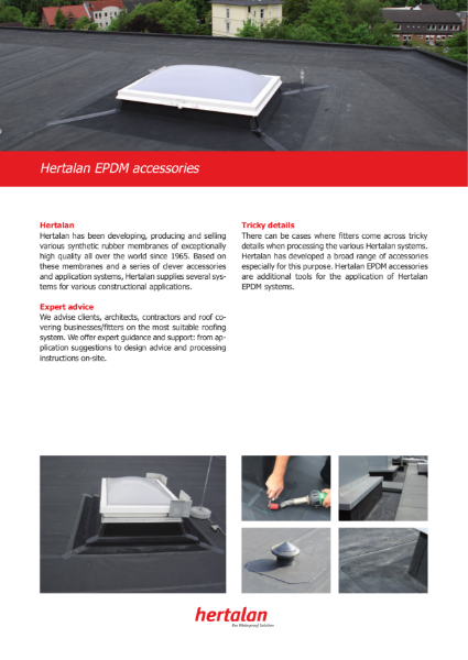 Hertalan EPDM Roofing System Accessories