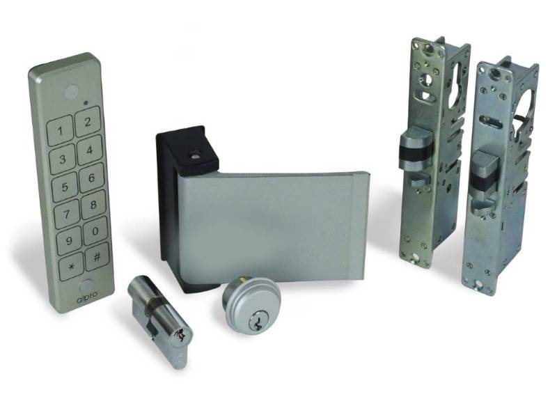 Alpro internal (access control optional) doors. - Waterproof keypad, Paddle