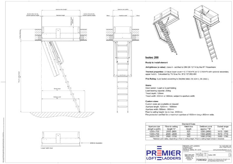 Isotec 200 Fire Resistant Loft Ladder
