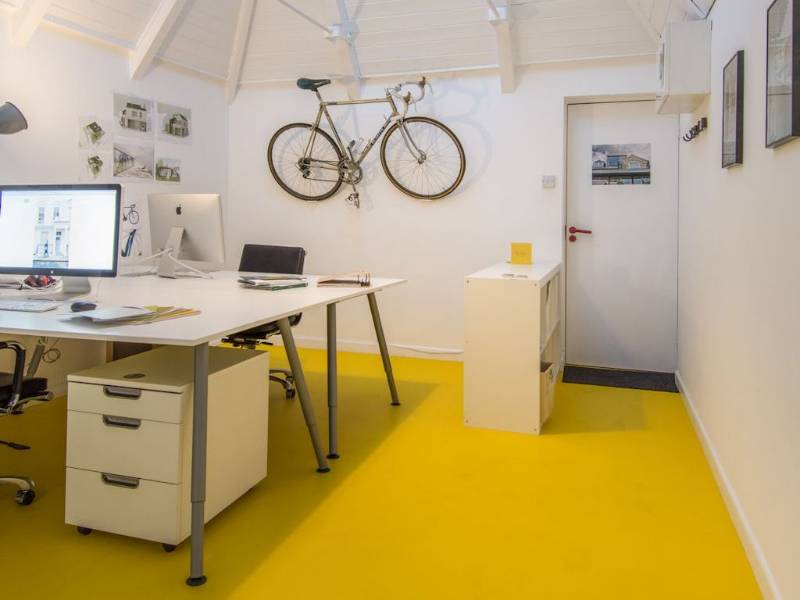 Bright and beautiful Bloc flooring brings colour to architect's office
