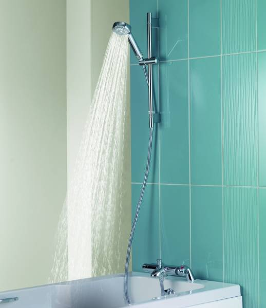 MIDAS 100 - Bath Mixer Shower With Adjustable Head HP Combi