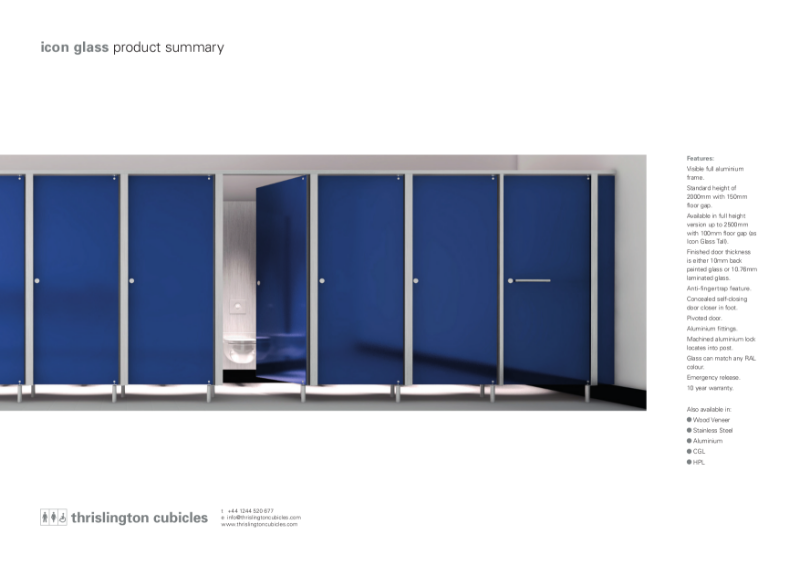 Thrislington Product Summary - Icon Cubicles