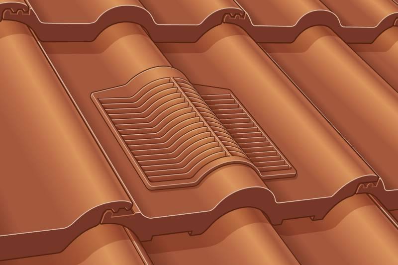 50 Double Roman Rapid Roof Vent Tile