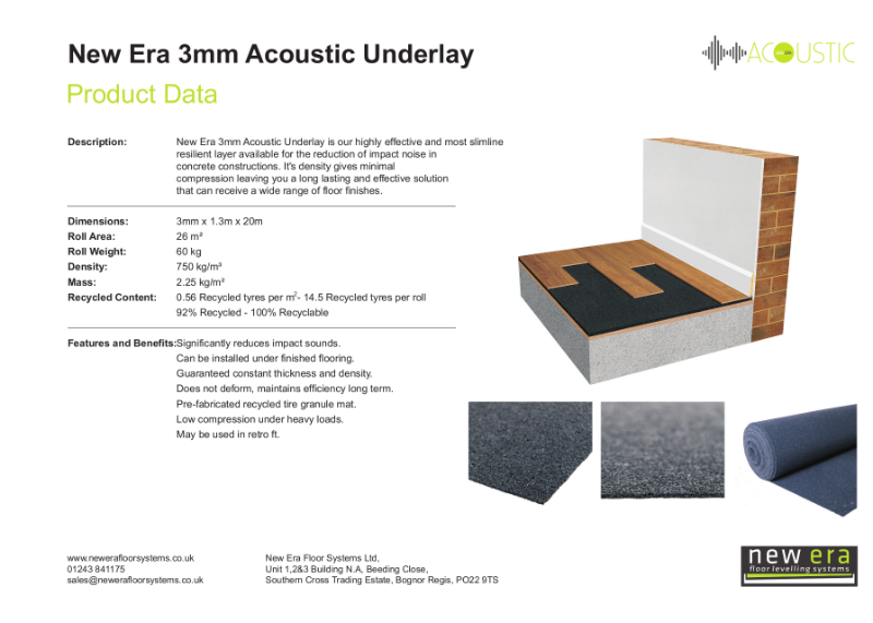 New Era Acoustic Underlay 3mm