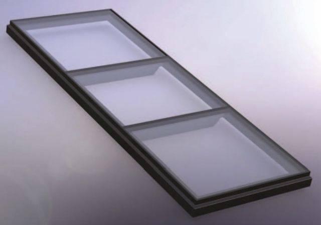 RG-80-20 Fixed Flat Glass Multi Pane Rooflight