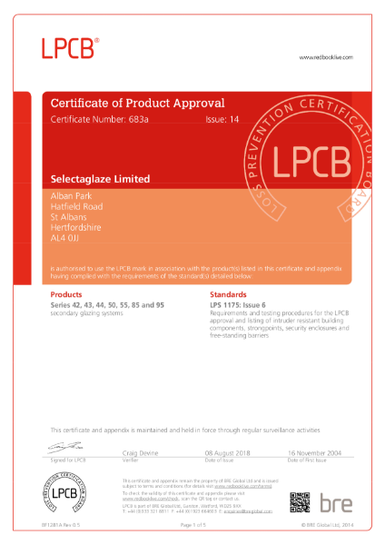 LPCB Certificate of Product Approval