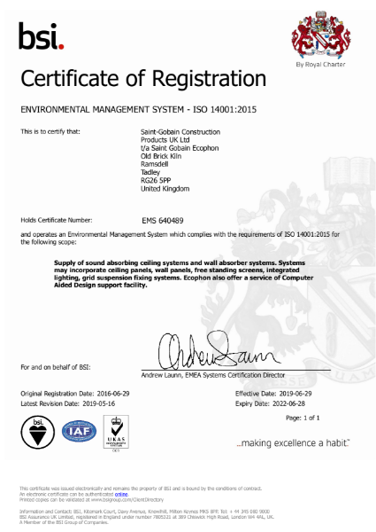 EMS ISO 14001:2015 UKAS