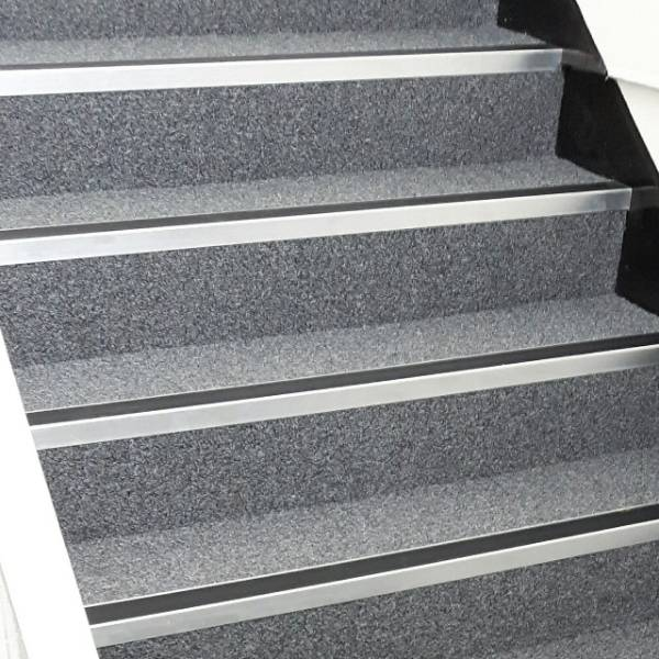 Modern Chrome Effect Stair Nosing / Stair Edging For Internal Use