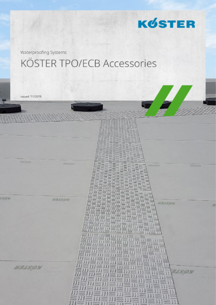 Koster TPO Single ply membrane accessories range